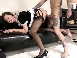 Glamorous mature maid gets..