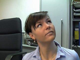 Hot German secretary in..