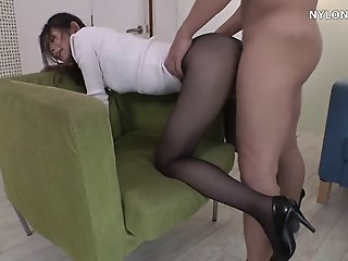 neighbour heels in pantyhose..
