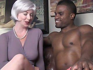 sexy milf seduces black stud