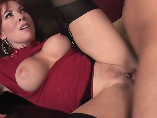 Sexy redhead milf in..