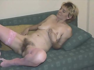 Hairy Mature in Pink..