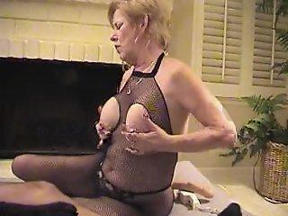 Granny in Fishnet..