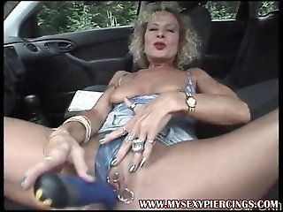 MILF with pierced pussy and..