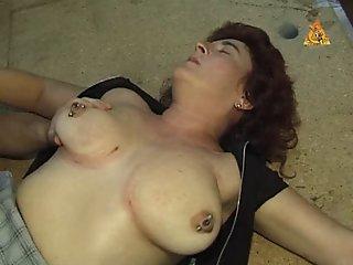 Heavy pierced MILF slave..