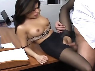 Office sex with a busty..