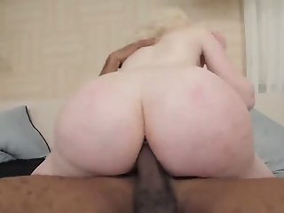 Sexy TS Blonde goes Black