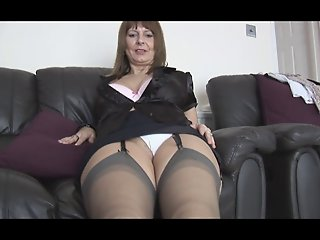 Mature busty secretary talks..