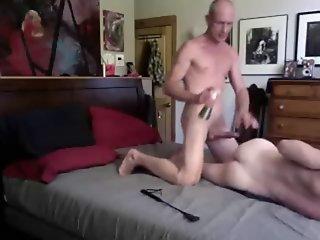 Tall Big Cock Daddy spanks..