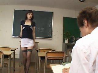 Horny japanese teacher -..